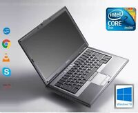 FAST Dell D630 Intel Core 2 Duo 2.5GHZ 4GB RAM 500GB HDD WIFI WINDOWS 10 Laptop