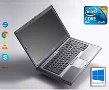 Fast Dell D630 Intel Core 2 Duo 2.5GHZ 4 GB RAM 500 GB HDD WIFI WINDOWS 10 portátil