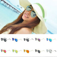 Polarized Unisex Vintage Retro Women Men Glasses Aviator Mirror Lens Sunglasses