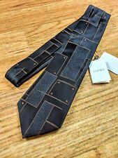 NWT $175 Loewe Tie Brown Tie 100% Silk NEW Made in Italy