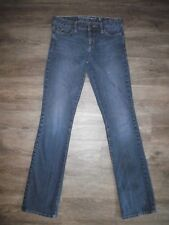 GUESS Carla Boot Cut Womens 28 Skinny Stretch Blue Denim Jeans w Holes
