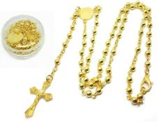 Small Gold Plated Rosary Beads Rosary Necklace Catholic Prayer Bead Gift C038