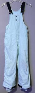 Columbia Sportswear Youth Girl Green Omni-Shield Snow Overall Bib Pants Size 7/8