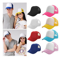 Men Women Hip Hop Cap Baseball Golf Cap Mesh Blank Visor Hat Snapback Adjustable