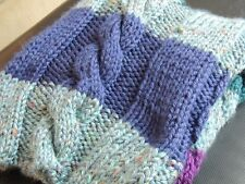Modern Cable Knit Throw