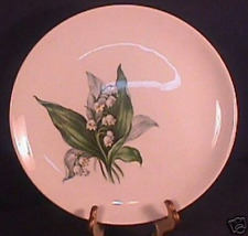 "Crown Potteries Lily of the Valley 9 1/4"" plate"