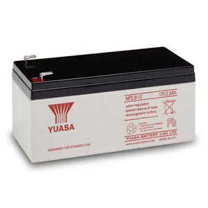 BRAND NEW & GENUINE YUASA 12V 2.8Ah (3.2Ah) ALARM PANEL AGM VRLA Battery