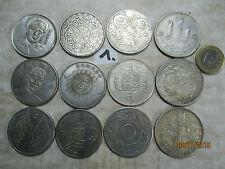 12 X alte Münze China ~1970 Nickel Gedenkmünzen Schiff Drachen Terrakotta Pferd