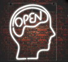 "New Open Mind Bed  Wall Decor Real Glass Art Bar POSTER NEON LIGHT SIGN 14""X10"""