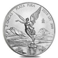 2018 2 oz Mexican Silver Libertad Coin .999 Fine BU