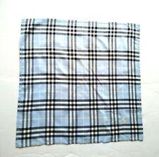 Burberry Bandana Pocket Square Handkerchief Neckerchief Nova Check Blue VGC