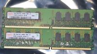 2 GB 2X1GB HYNIX DDR2-800 MHZ 1RX8 PC2-6400U 666-12 PC RAM MEMORY 240 PIN NEW