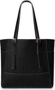 Damen Shopperbag City Style Einkaufstasche Tasche A4 schwarz