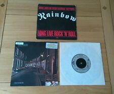 "Rainbow Job Lot 3x UK 7"" Singles Long Live Street Dreams Can't Let Classic Rock"