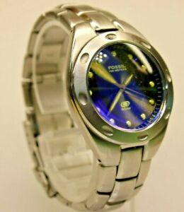 "Women's FOSSIL ""Blue"" Water Resistant Watch AM-3390 w/ New Battery"