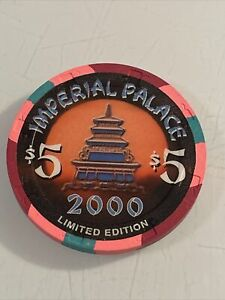 IMPERIAL PALACE $5 Casino Chip Las Vegas Nevada 3.99 Shipping