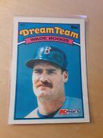 1989 Topps Glossy Dream Team #14 WADE BOGGS Boston Red Sox Baseball Card, HOF.