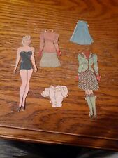 Vintage Paper doll with clothes