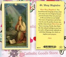 Saint St. Mary Magdalene with Prayer to St Mary Magdalene - Laminated Holy Card
