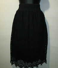 Skirt Size 2X Plus Black Beautiful Crochet Lace Lined Give and Stretch NWT 644X