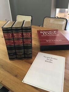 Brockhaus Enzyklopädie 19.Auflage Goldschnitt mit Weltatlas und Engl. Wörterbuch