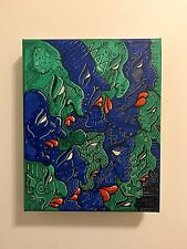 The Crowd 10x8 Stretch Canvas Abstract Painting Pop Art oil based composition