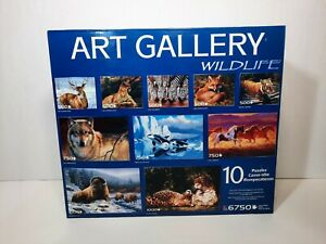 Art Gallery 10 Puzzle 6750 Piece Set Wildlife Animals Horses Orcas #48867 New