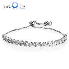 Women Tennis Bracelets Wik Round Cubic Zirconia Adjustable Charm Bangle Bracelet