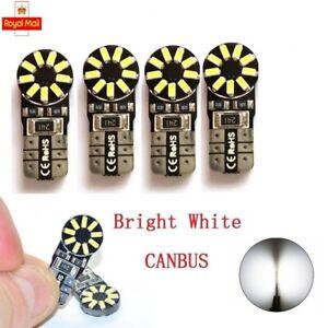 Car Bulbs T10 501 W5W Interior Lights ERROR FREE CANBUS LED Xenon White 18 SMD