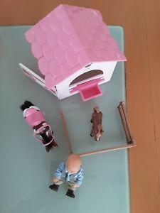 Baby Born Mini  Pferdebox mit Pferd Reiter Fohlen Zaun Turnierstangen