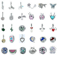 2019 DIY Multiple Options 925 Beads Sterling Silver Charms Fit Bracelet Gifts