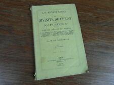 ERNEST RENAN / CHAUVELOT La Divinité du Christ d'après NAPOLEON Humbert 1863