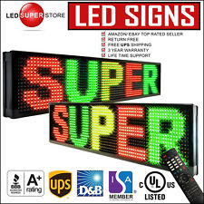 """LED SUPER STORE: 3C/RGY/IR/2F 15""""x40"""" Programmable Scroll. Message Display Sign"""