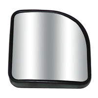 "Round 3.75"" Blind Spot Convex Mirror w// Stick-on Mount Black for Car-Truck"