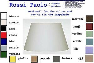 Paralume modello impero in tessuto con interno pvc bianco - made in Italy