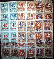 Bc1. ed 742, 743, 744** bloque 4 completa y variedades raras, Cifras. aprx 1000€