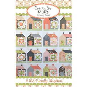 Friendly Neighbor Quilt Pattern by Corey Yoder of Coriander Quilts #168