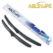 "ABLEWIPE HYBRID 24"" & 18"" PREMIUM QUALITY SUMMER WINTER WINDSHIELD WIPER BLADES"