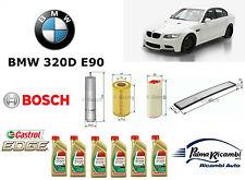 KIT TAGLIANDO OLIO 4 FILTRI BOSCH+ 6LT. CASTROL 5W30 BMW 320 D E90