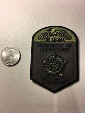 Oklahoma Department Of Corrections Officer Police Patch Ok Subdued