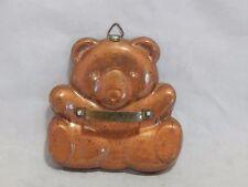 Vintage Coper Plated Metal Teddy Bear Cookie Cutter