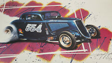 "Kenny Youngblood 20""X30"" poster art of Mooneyham & Sharp 554 Fuel 34 Ford Coupe"