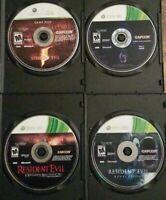 Lot of 4 Resident Evil 5 & 6 Revelations Raccoon City Xbox 360 Discs Only