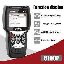Innova 6100P SRS Airbag Reset OBD2 Code Reader Diagnostic Scanner Engine Scan