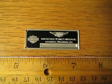 Harley Davidson Metal Display Plaque Road King Tamiya Aoshima Fat Boy 1/12 1/18
