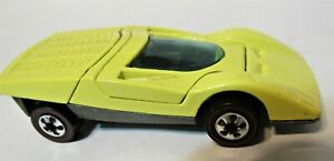 Hot Wheels Redline 1972 Ferrari 512S Yellow /Black 512 S Hong Kong Mattel Restor