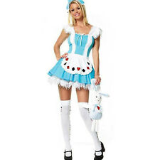 Señoras Alice in Wonderland fancy dress Damas De Cuento De Hadas Disfraz Historia Libro