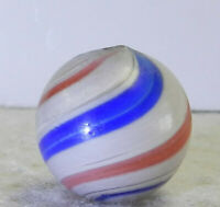 #12749m Large .78 Inches Vintage German Handmade Peppermint Swirl Marble