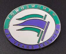 Vintage Townswomen's Guild 25 Years Service Enamel Pin Badge