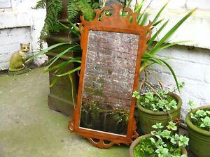 Antique Mahogany Fretwork Wall Mirror fret